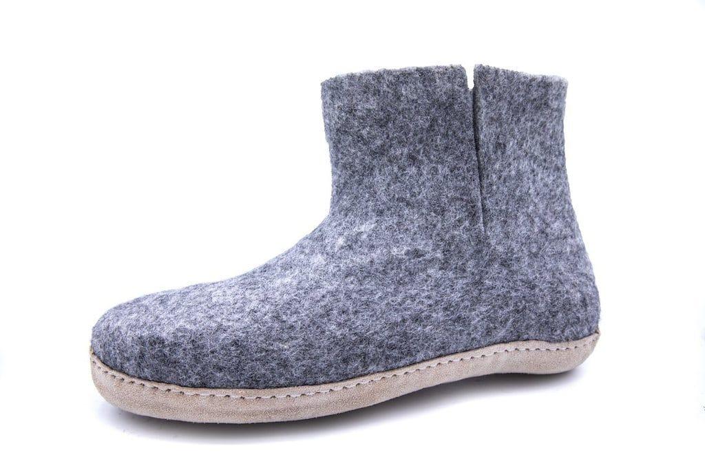 fc19bdee91e Støvle af 100% ren uld – grå – Shus.dk